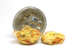 Omelette con bacon e le verdure immagine stock libera da diritti