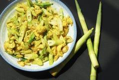 Omelette con i germogli di bambù Immagine Stock Libera da Diritti
