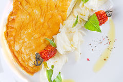 Omelette con i pomodori secchi Fotografia Stock Libera da Diritti