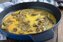 Omelette con il carciofo Fotografia Stock Libera da Diritti