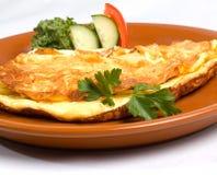 Omelette con il prosciutto & il formaggio Fotografia Stock Libera da Diritti