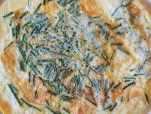 Omelette con la erba cipollina Fotografie Stock
