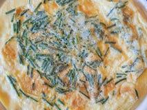 Omelette con la erba cipollina Fotografia Stock