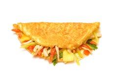 Omelette con le erbe ed i pomodori Fotografia Stock Libera da Diritti