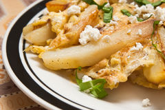 Omelette con le patate Immagine Stock