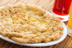 Omelette con polpa di granchio Immagini Stock Libere da Diritti