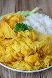 Omelette con riso, alimento tailandese, questa cucina, pranzo facile tailandese Fotografia Stock Libera da Diritti