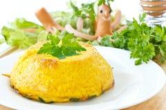 Omelette cotta Fotografia Stock Libera da Diritti