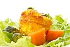 Omelette cotta Fotografie Stock Libere da Diritti