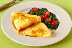 Omelette cotta Immagine Stock Libera da Diritti