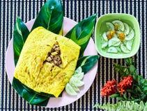 Omelette croccante farcita vietnamita Fotografia Stock Libera da Diritti