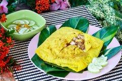 Omelette croustillante bourrée par Vietnamien, Khanom beuangyuan Photo libre de droits