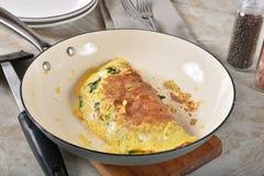 Omelette cucinata fresca fotografia stock