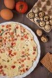 Omelette cuite au four Photographie stock libre de droits