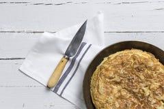 Omelette délicieuse de pomme de terre Photos stock