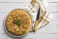 Omelette délicieuse de pomme de terre Photographie stock
