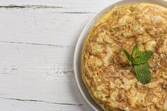 Omelette délicieuse de pomme de terre Images libres de droits