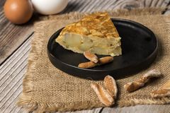 Omelette délicieuse de pomme de terre Photographie stock libre de droits