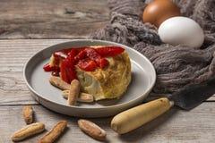 Omelette délicieuse de pomme de terre Photos libres de droits