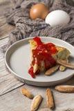 Omelette délicieuse de pomme de terre Image stock