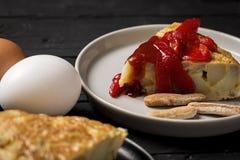 Omelette délicieuse de pomme de terre Photo stock