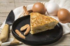 Omelette délicieuse de pomme de terre Image libre de droits