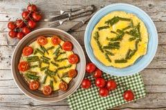 Omelette d'asperge images libres de droits