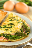 Omelette d'asperge et de jambon photo stock