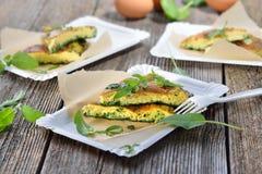 Omelette d'herbe image stock