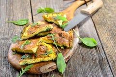 Omelette d'herbe Images stock