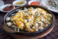 Omelette d'huître Image libre de droits