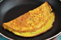 Omelette d'oeufs Photographie stock