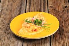 Omelette d'oeufs Images libres de droits