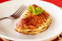 Omelette d'oeufs Image libre de droits