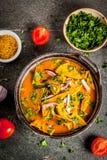 Omelette d'oeufs de Masala d'Indien image libre de droits