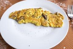 Omelette de champignon de Porcini images libres de droits