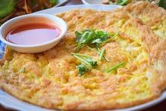 Omelette de crevette Image libre de droits