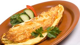 Omelette de déjeuner image stock
