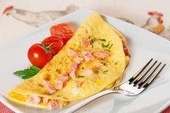 Omelette de jambon images stock