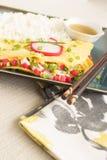 Omelette de Kamaboko photographie stock libre de droits