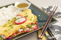 Omelette de Kamaboko photo stock