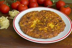 Omelette de pâtes image stock