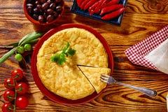 Omelette de pommes de terre de tortilla de patata de Tapas Image libre de droits