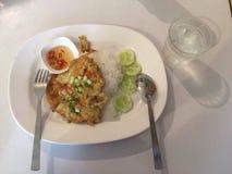 Omelette de riz Image stock