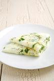 Omelette degli spinaci e del bianco d'uovo Immagini Stock Libere da Diritti