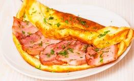 Omelette del bacon immagine stock libera da diritti