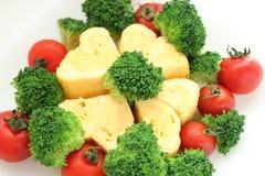 Omelette del cuore Fotografia Stock Libera da Diritti