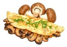 Omelette del fungo immagini stock