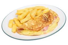 Omelette del prosciutto & del formaggio immagini stock
