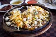 Omelette dell'ostrica Immagini Stock Libere da Diritti